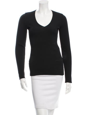 Dolce & Gabbana Long Sleeve V-Neck Top None