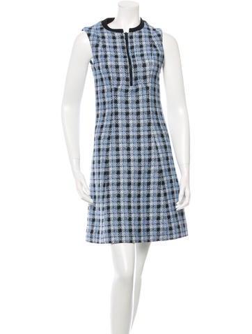 Derek Lam Plaid Tweed Dress