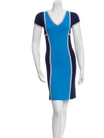 Derek Lam Colorblock Sweater Dress None