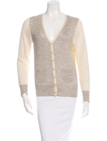 Derek Lam Cashmere Colorblock Cardigan None