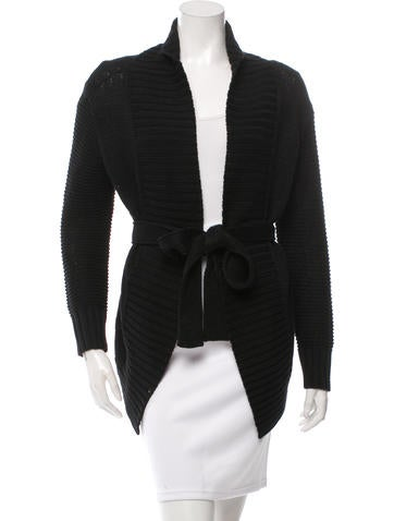 Derek Lam Tie-Front Shawl Collar Cardigan None