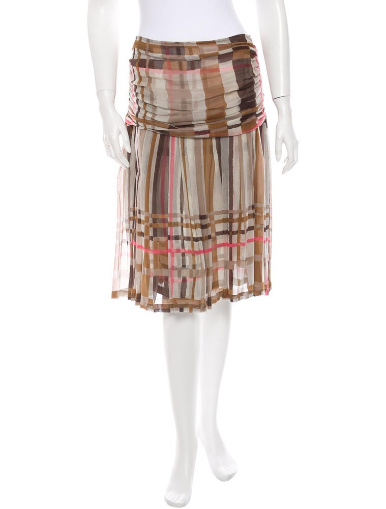 Dries Van Noten Silk Skirt
