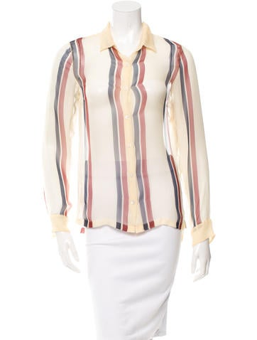 Dries Van Noten Silk Button-Up Top w/ Tags None