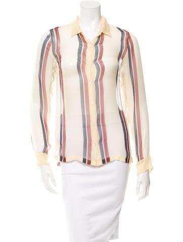 Dries Van Noten Silk Button-Up Top w/ Tags None