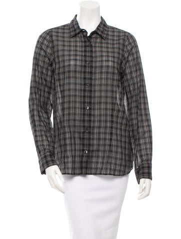 Dries Van Noten Striped Button-Up Top None
