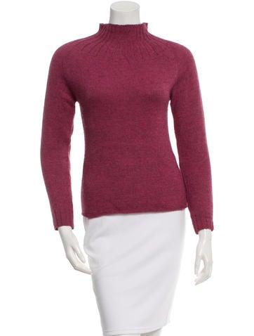 Dries Van Noten Wool Mock Neck Sweater None