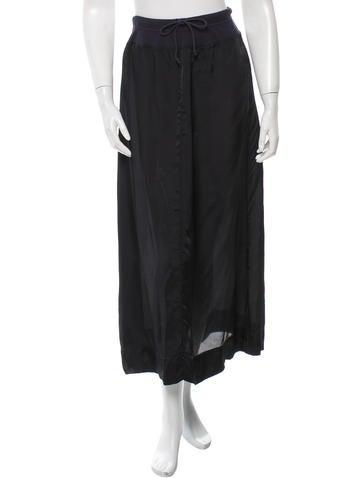Dries Van Noten Drawstring-Accented Midi Skirt None