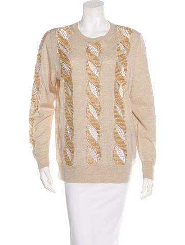 Dries Van Noten Beaded Wool Sweater None
