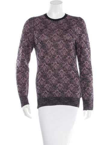 Dries Van Noten Patterned Rib Knit Sweater None