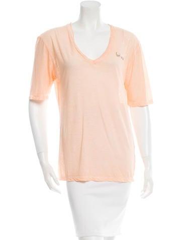 Dsquared² Short Sleeve V-Neck T-Shirt None