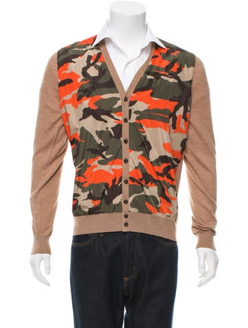 Dsquared² Wool Camouflage Cardigan None