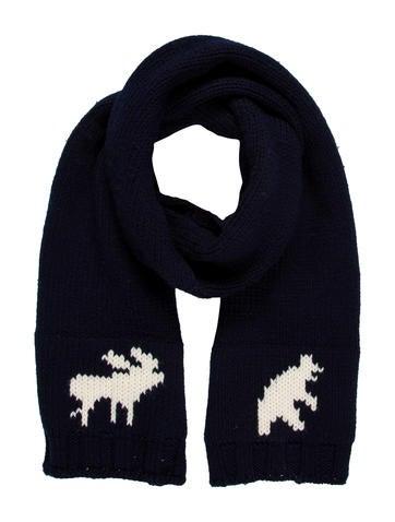 Dsquared² Wool Intarsia Scarf None
