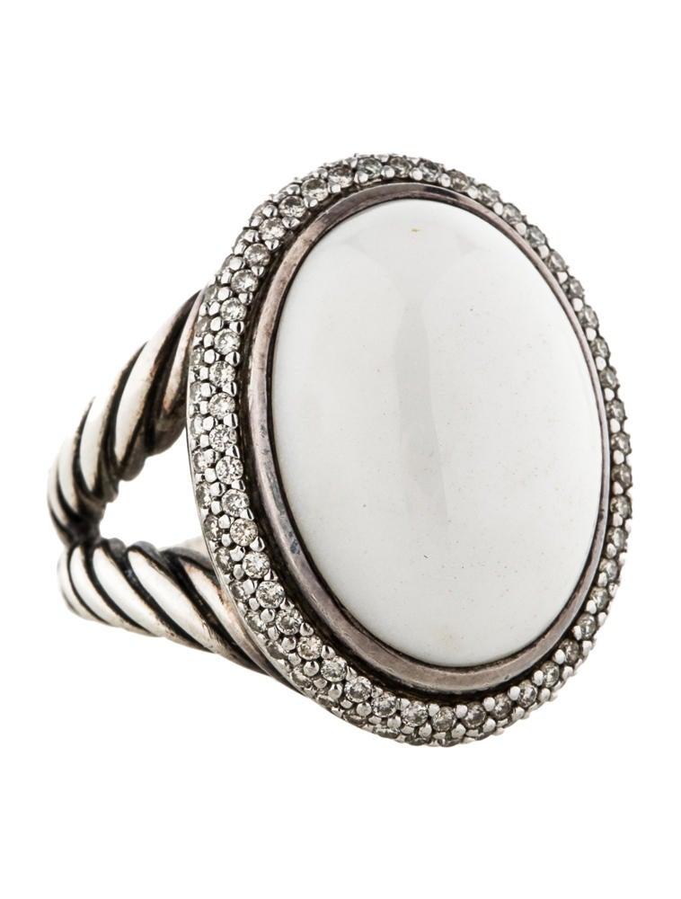 david yurman white agate and split shank ring