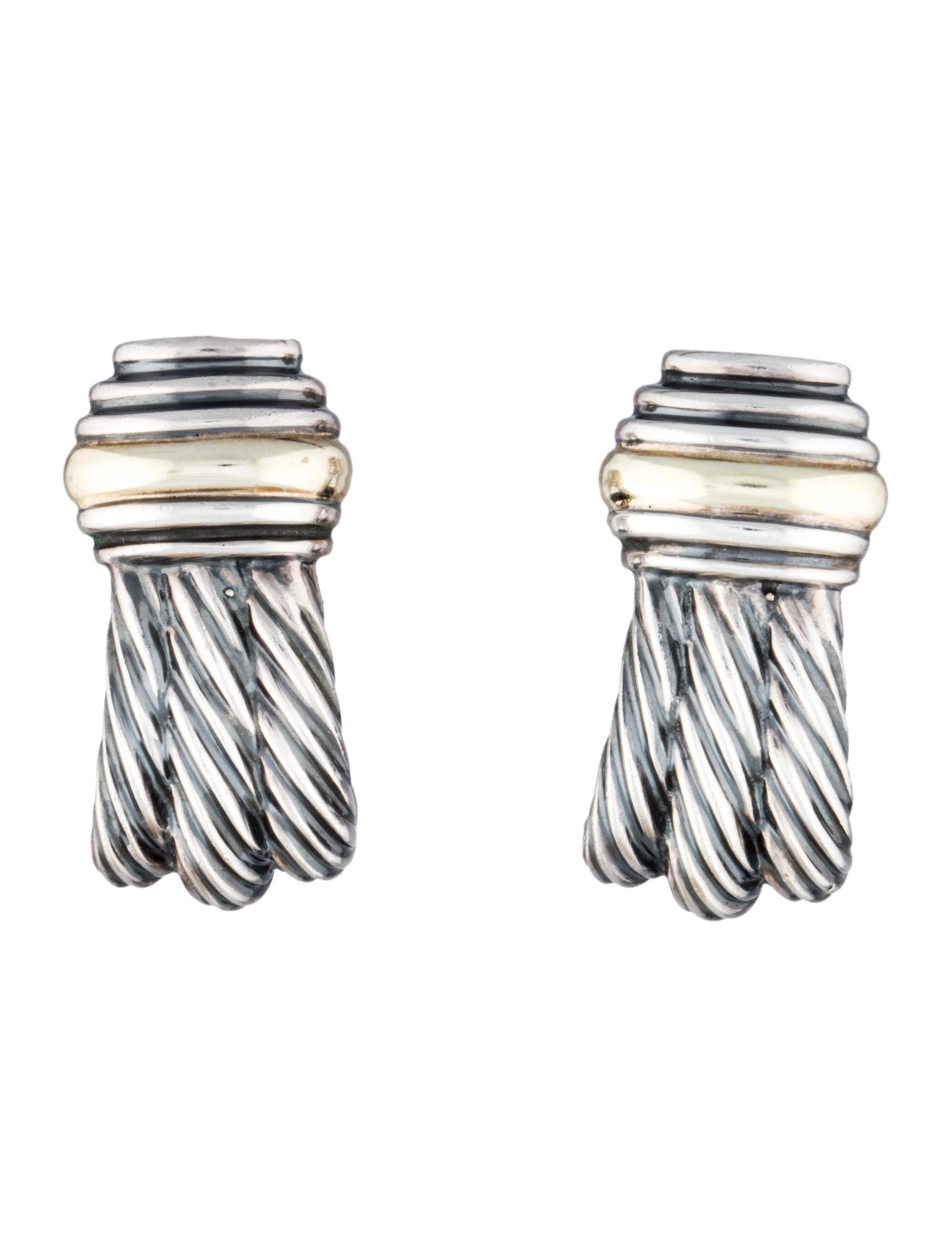 david yurman sculpted cable earrings jewelry dvy25998