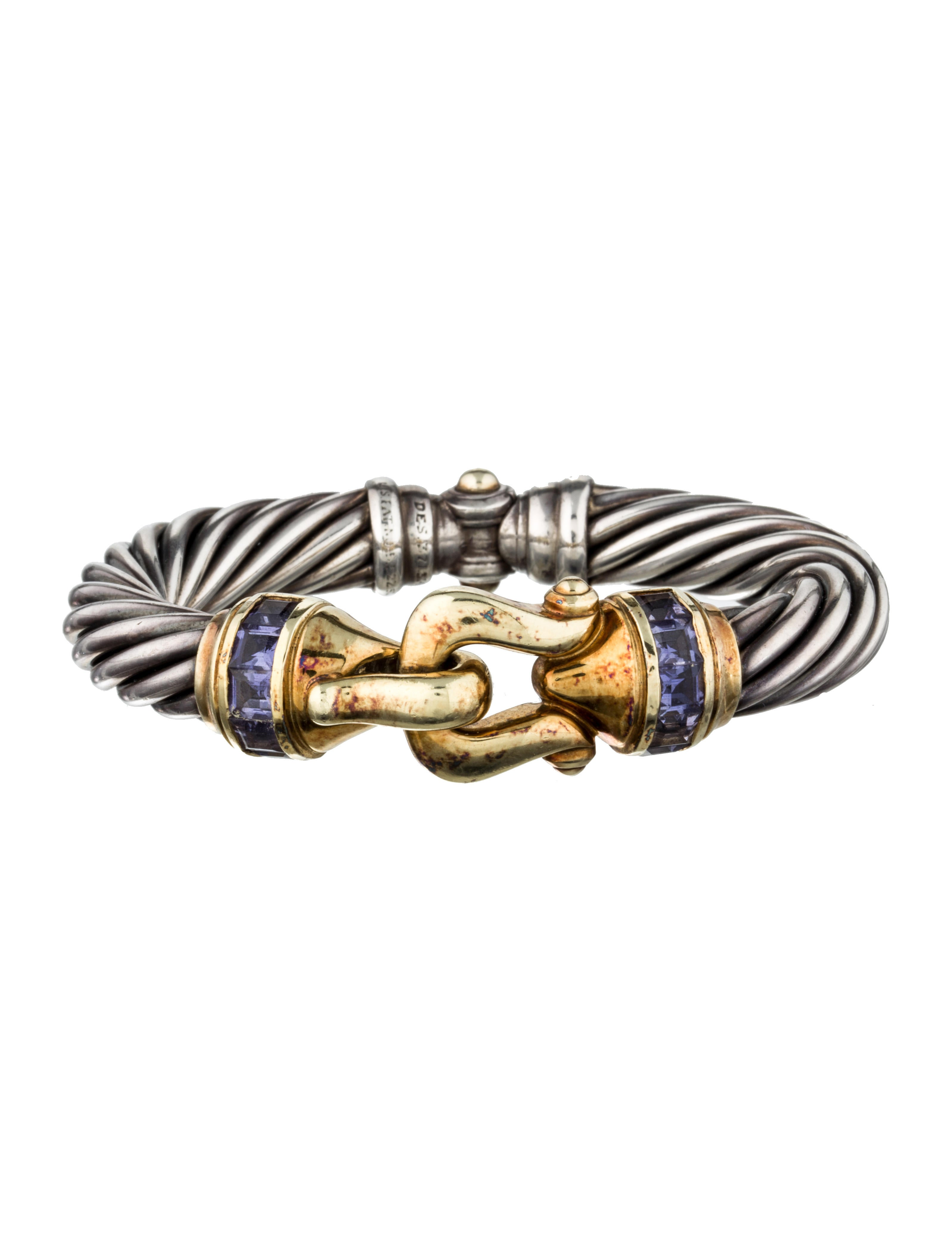 David yurman cable buckle bracelet jewelry dvy27425 for David yurman inspired bracelet cable