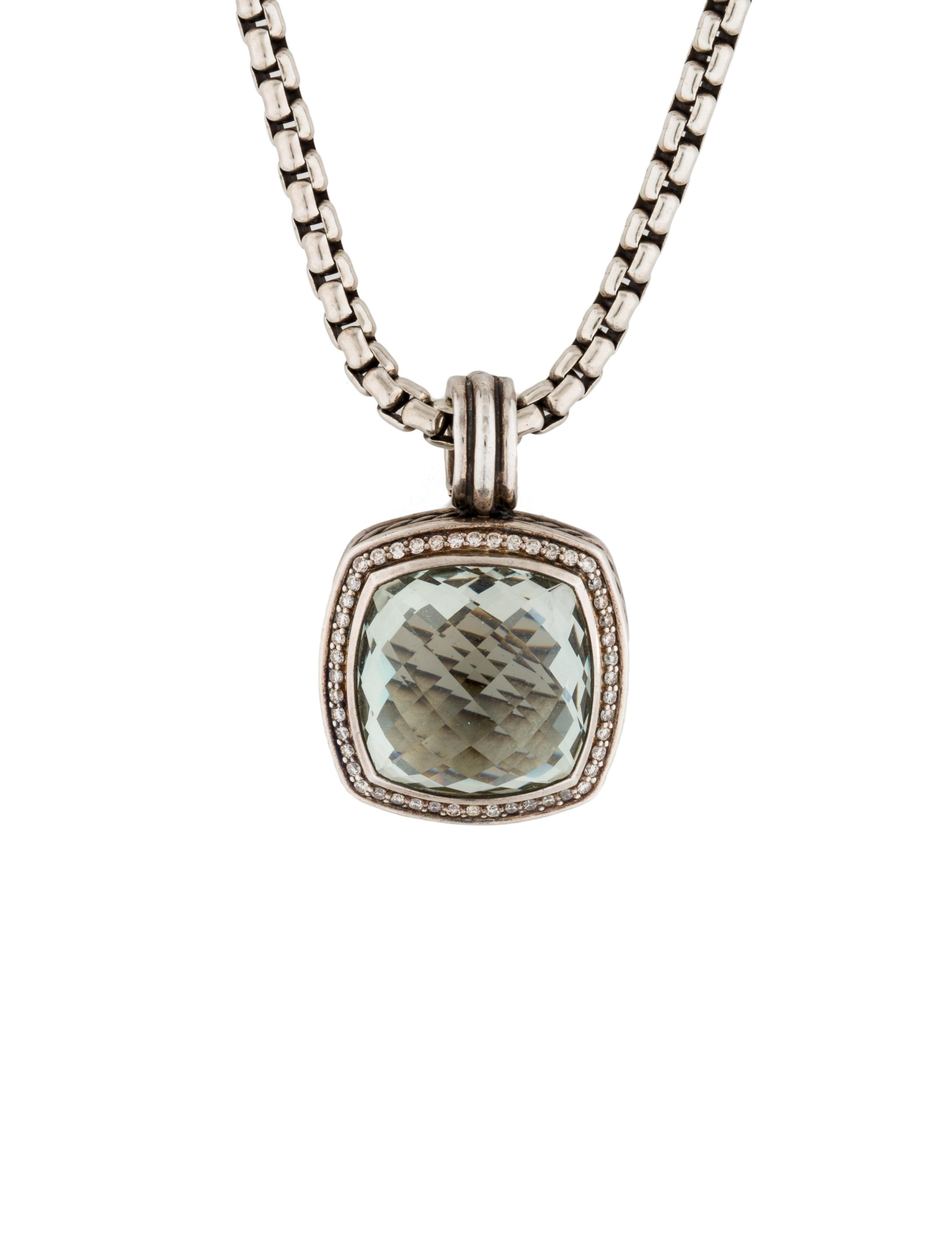 David Yurman Prasiolite And Diamond Albion Pendant