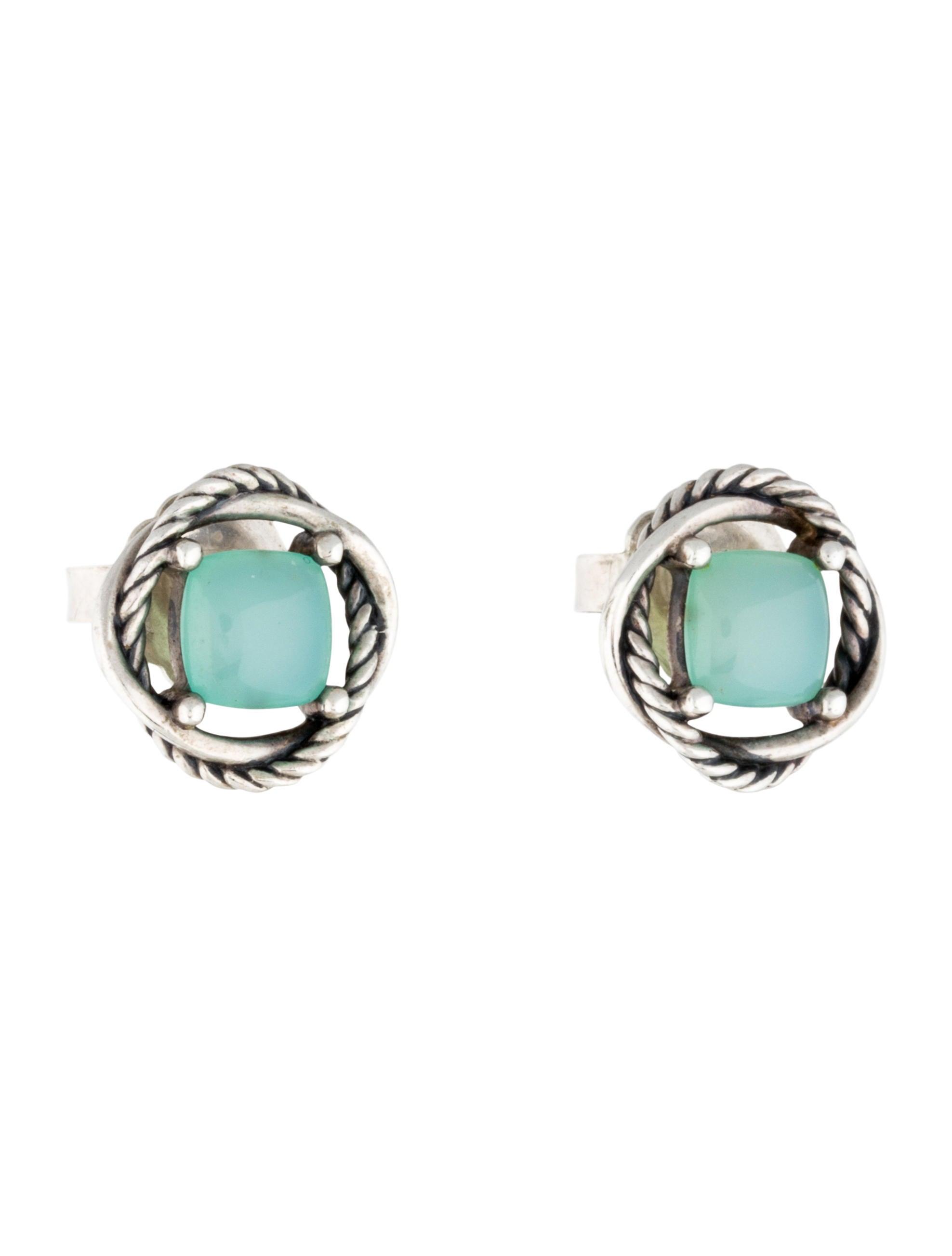 David yurman aqua chalcedony crossover earrings earrings for Apply for jewelry credit