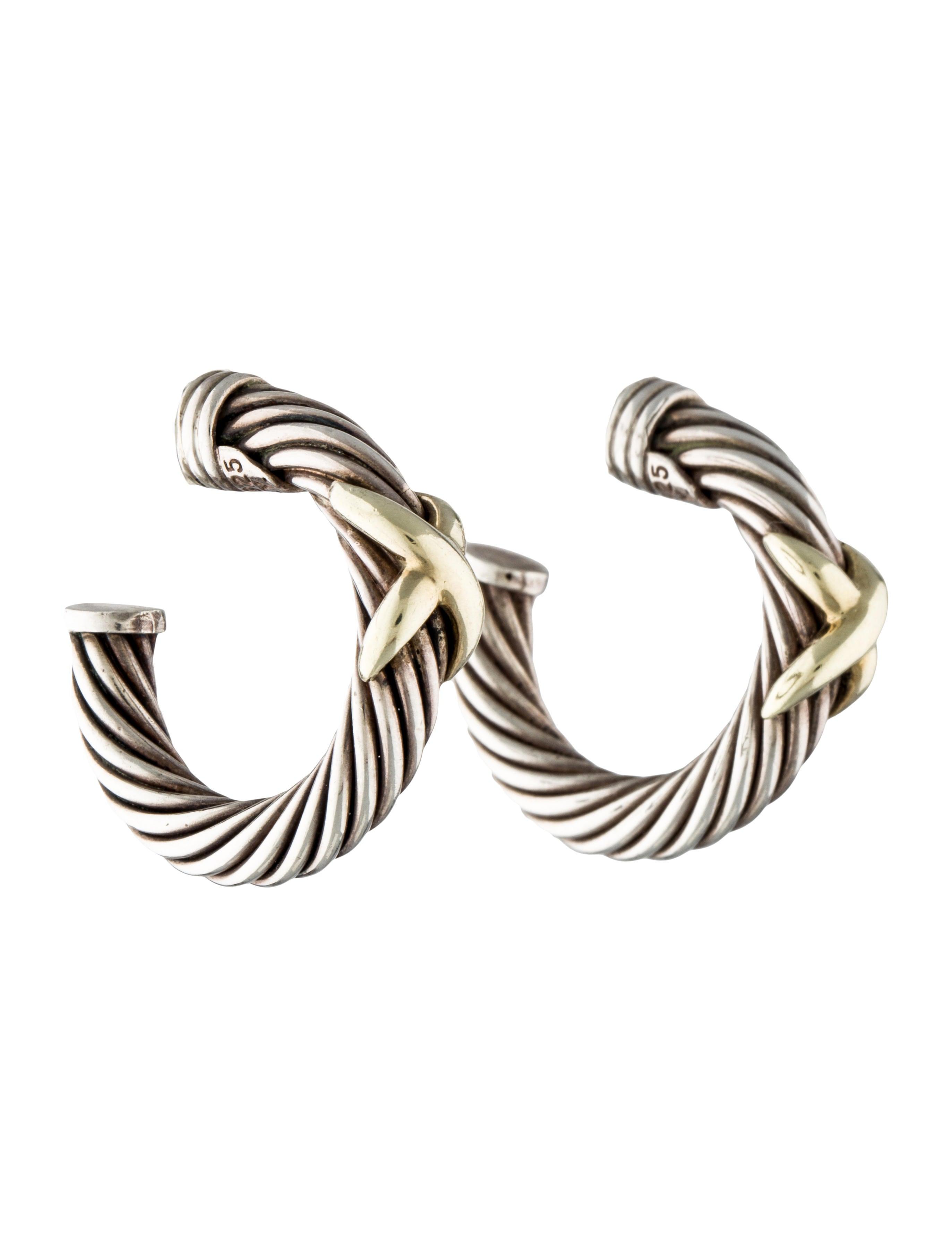 david yurman cable x hoop earrings earrings dvy29737