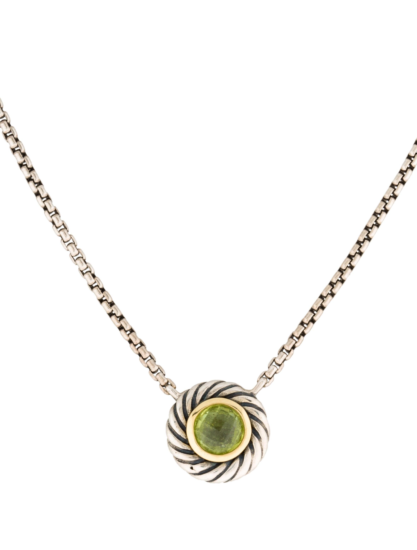David Yurman Peridot Cookie Necklace Necklaces