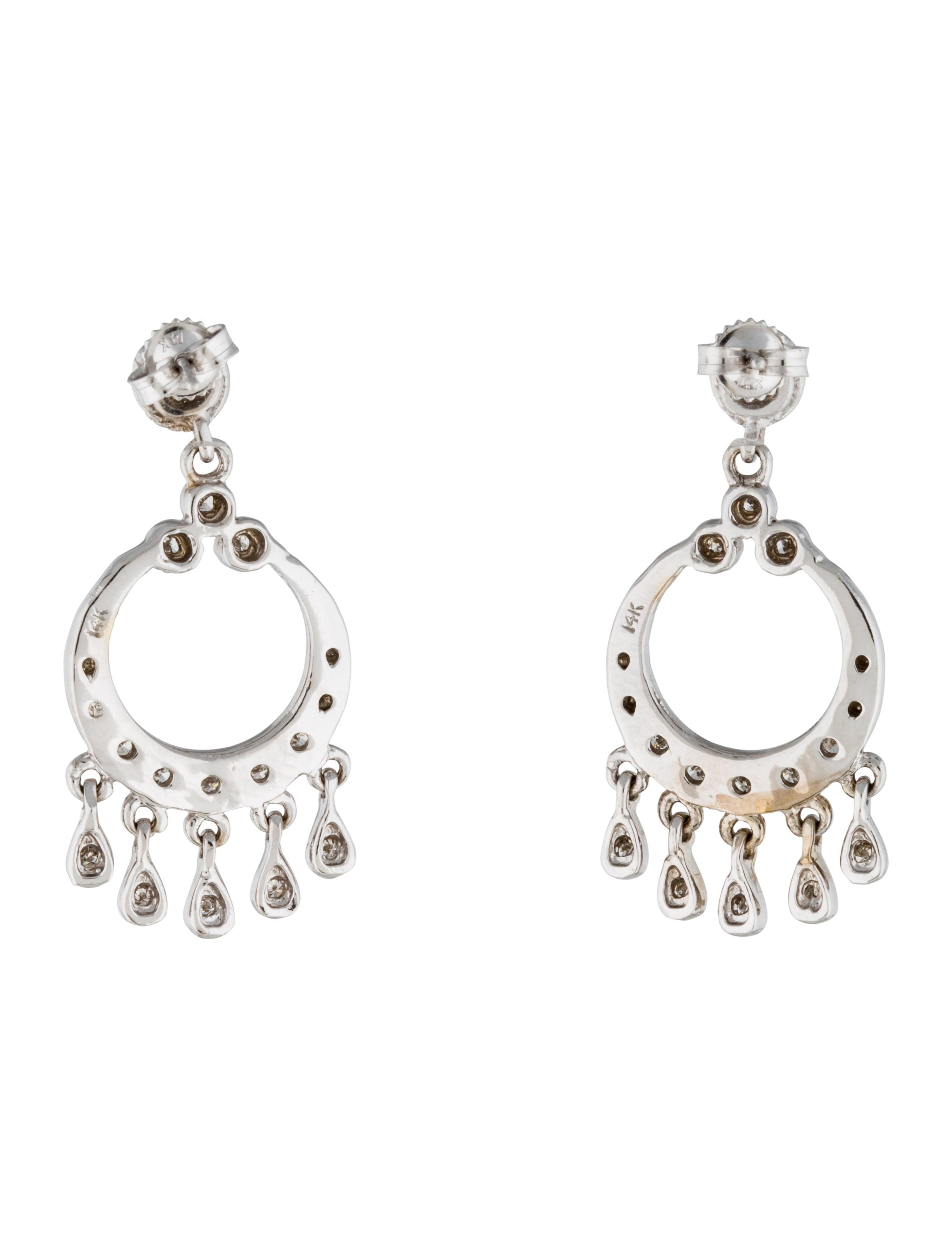 14k Diamond Chandelier Earrings Earrings Earri20012