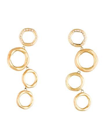 18K Diamond Graduated Circles Earrings