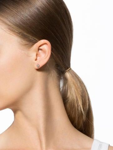 Oval Morganite Stud Earrings
