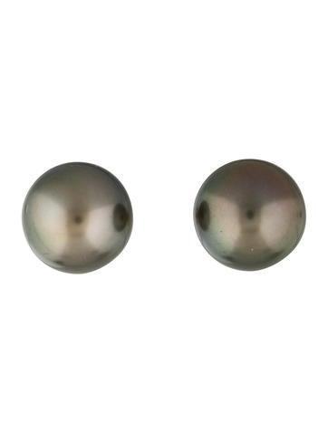 Tahitian Pearl Stud Earrings None