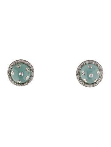 18K Aquamarine & Diamond Earrings
