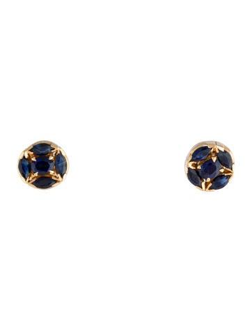 18K Sapphire Studs