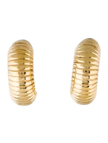 14K Textured Clip On Earrings
