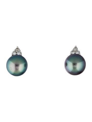 Pearl and Diamond Earclips