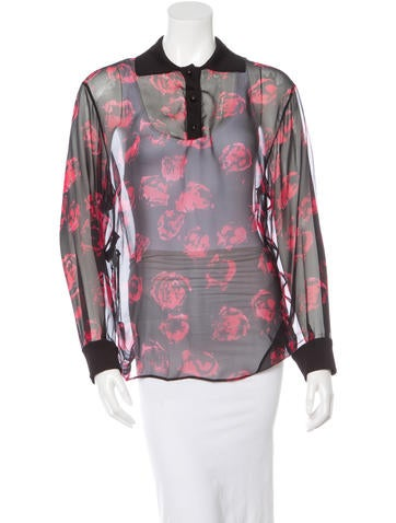 Emanuel Ungaro Silk Long Sleeve Blouse w/ Tags None