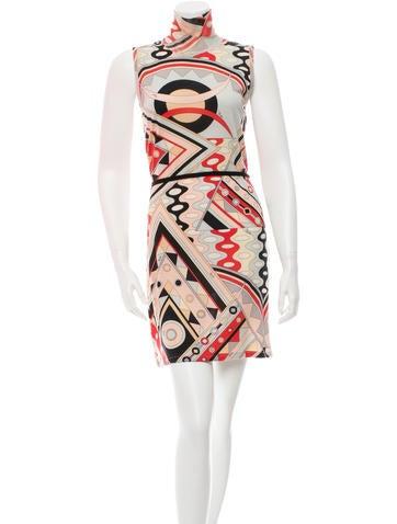Emilio Pucci Sleeveless Turtleneck Dress None
