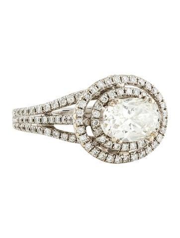 18K Diamond Double Halo Engagement Ring