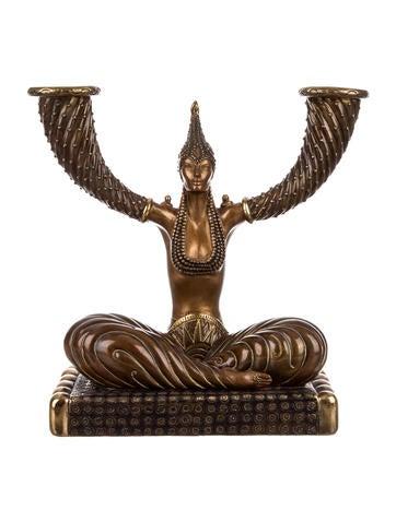 Erté Bronze Candelabrum