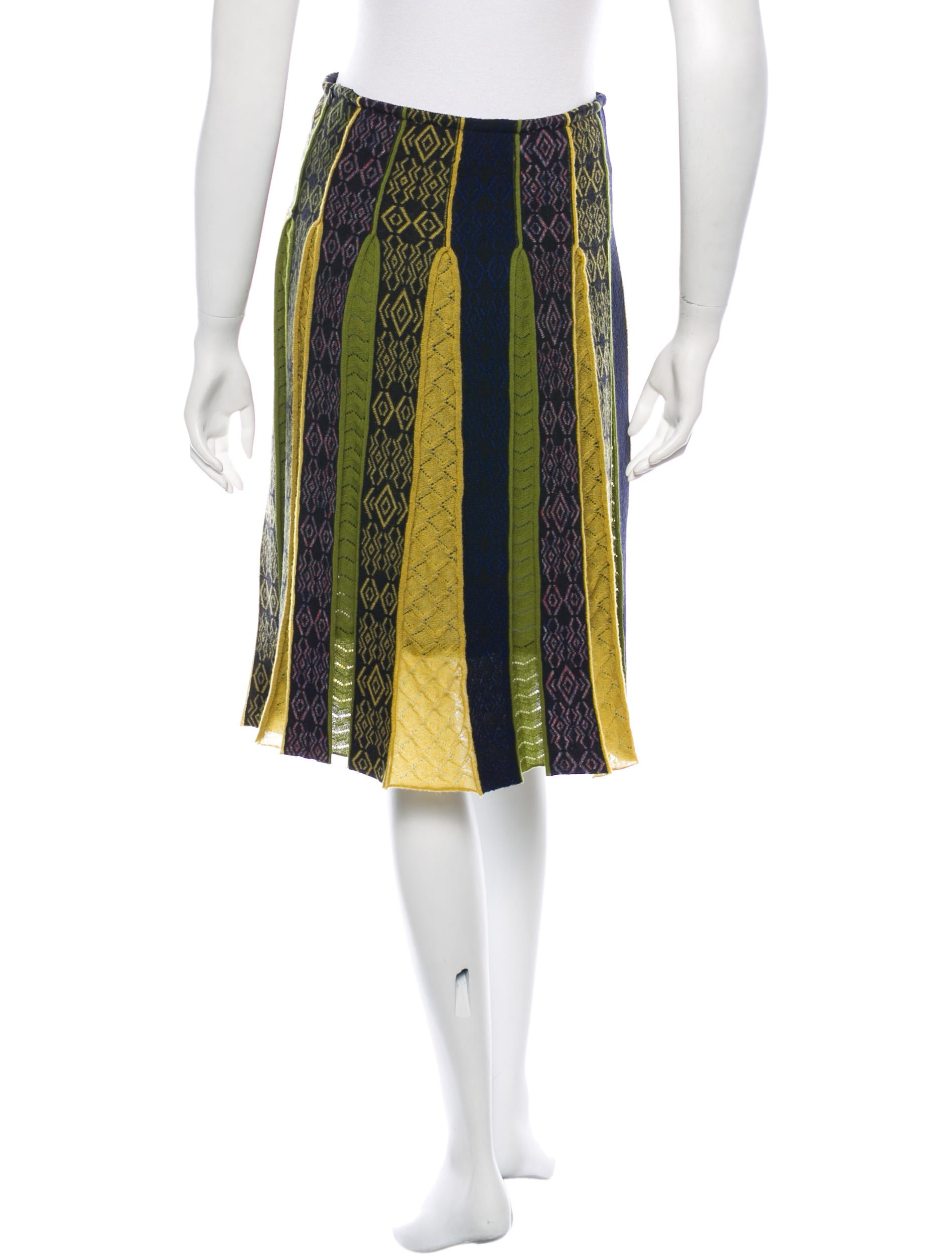 etro wool pleated skirt clothing etr31056 the realreal