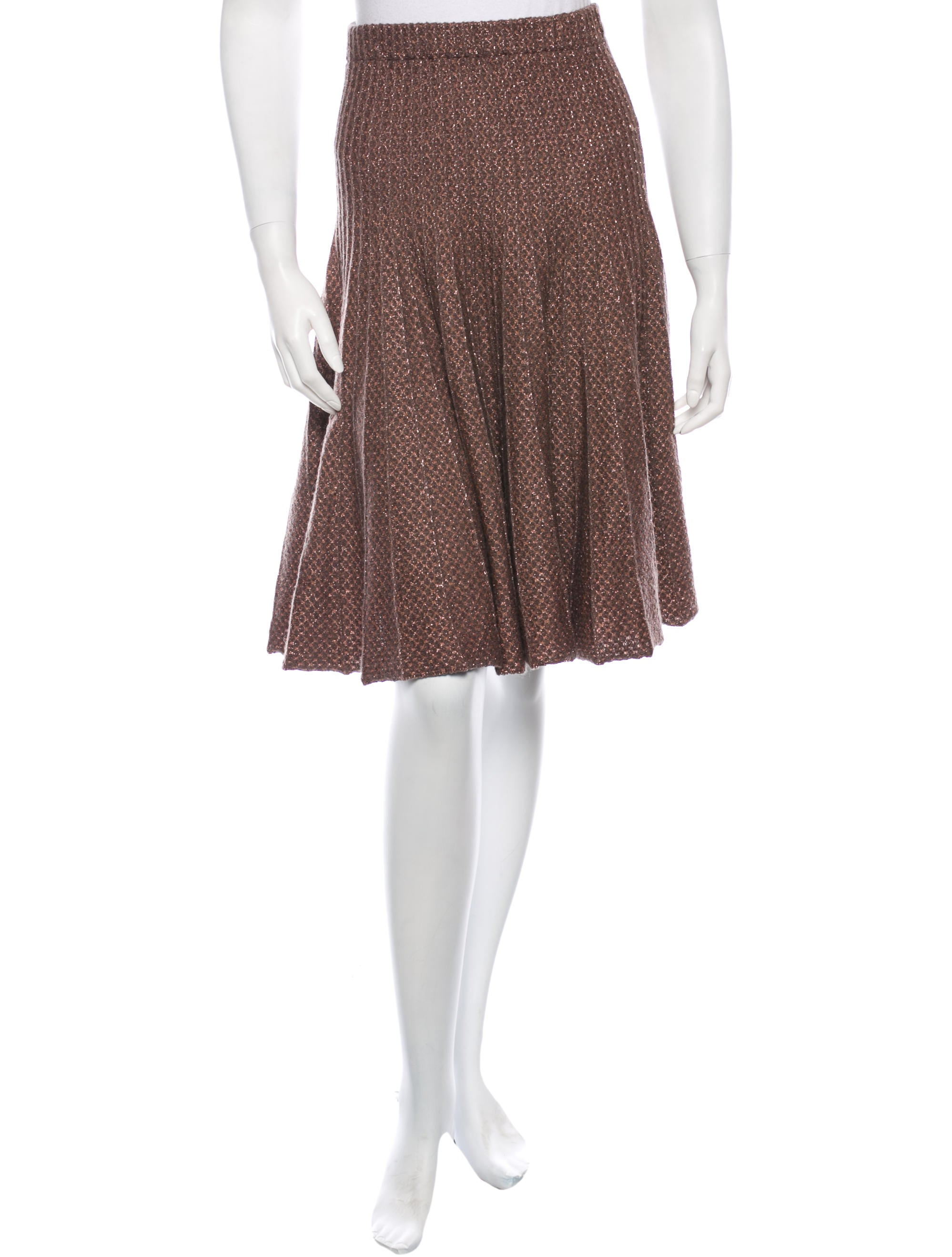 etro pleated fit flare skirt clothing etr31175 the