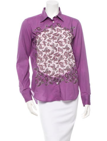 Etro Printed Button-Up Top None