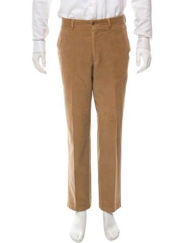 Etro Corduroy Straight-Leg Pants None
