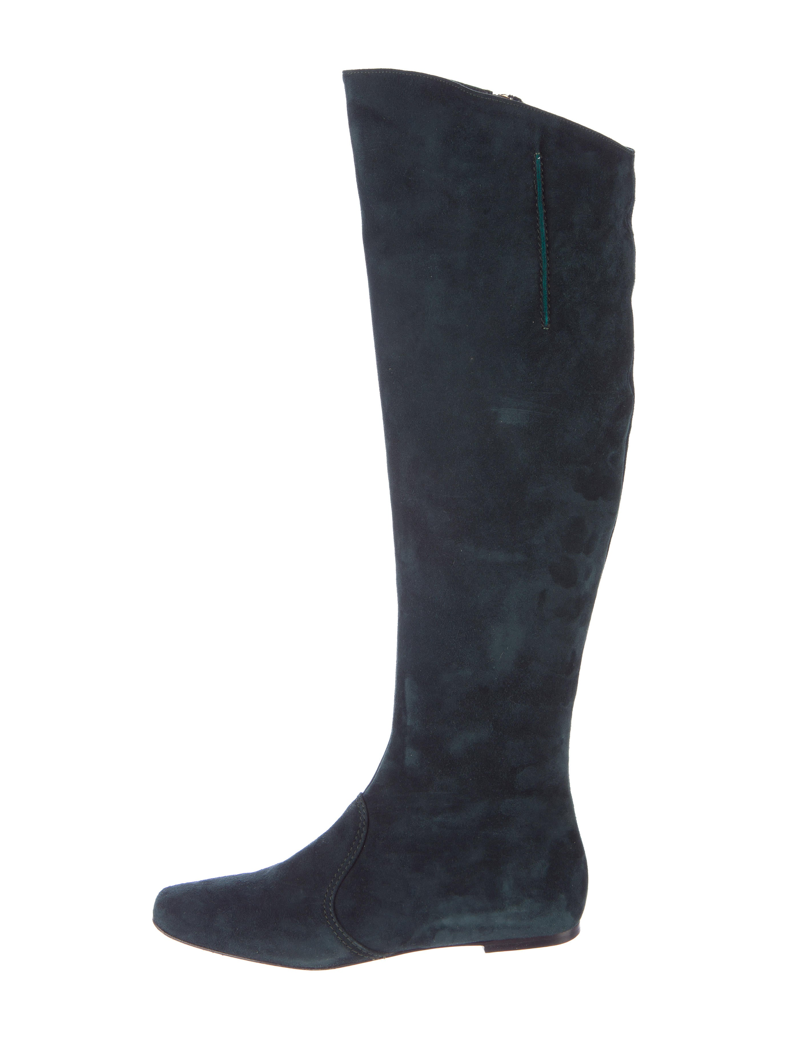 etro suede knee high boots shoes etr36094 the realreal