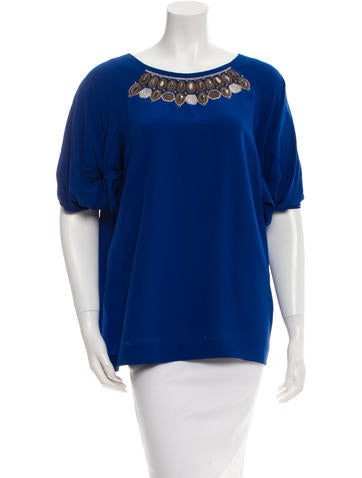 Etro Embellished Silk Top None