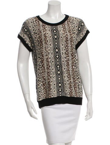 Etro Patterned Knit Top w/ Tags None