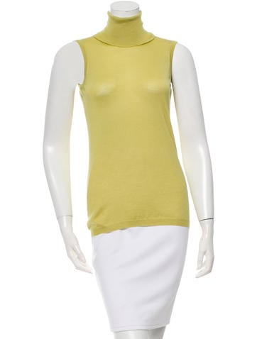 Etro Cashmere Sleeveless Turtleneck Top w/ Tags None
