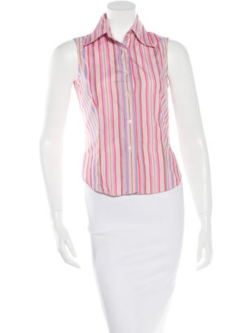 Etro Striped Sleeveless Top None