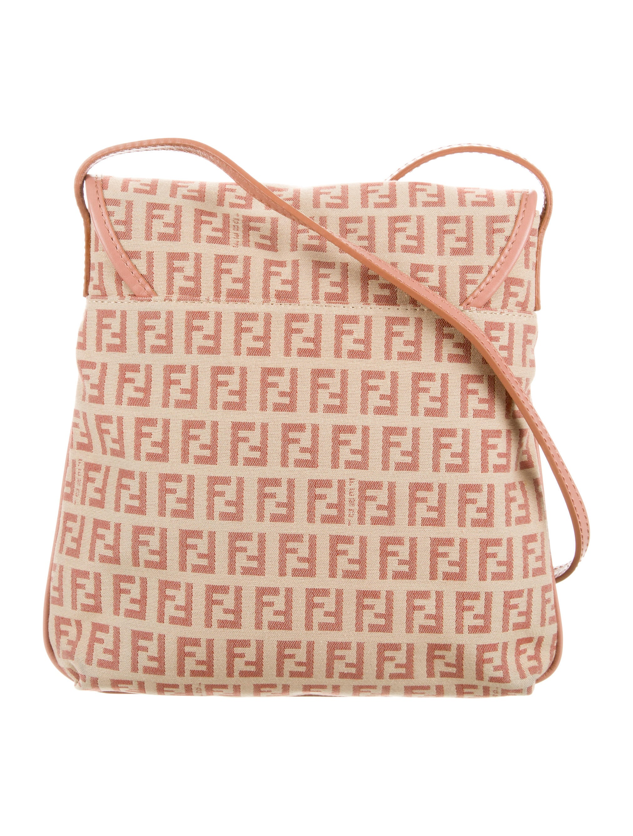 Fendi Zucchino Messenger Bag - Handbags - FEN38344  6954642ce9c04