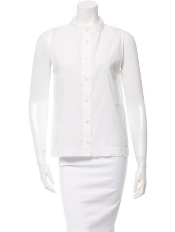 Fendi Sleeveless Button-Up Top None