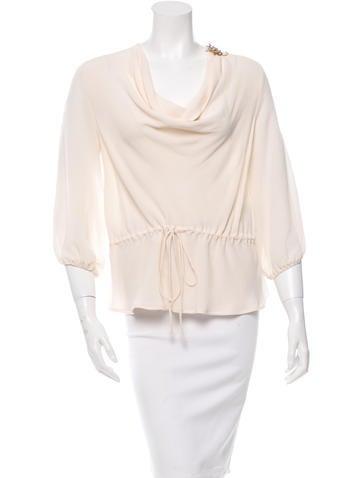 Fendi Silk Embellished Blouse None