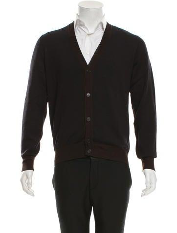 Fendi Patterned Wool Cardigan None