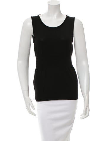 Fendi Sleeveless Wool Top None