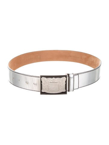 fendi metallic leather belt accessories fen42175 the